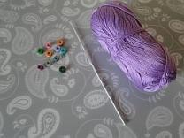 beads hook and yarn
