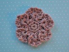 Aran weight violet color flower