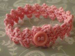 Pink Buttonbraid bracelet