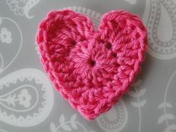 A pink crochet heart