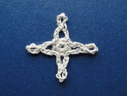 White four point star or cross