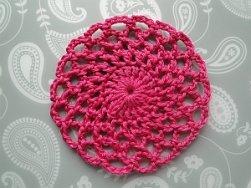 circular pink coaster