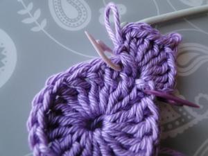 first petal crocheted