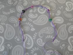 finished chain with beads attached