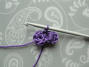 Slip stitching into the next stitch