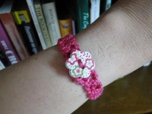 Wearing the bracelet!