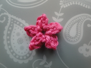 The completed pink flower