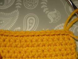 Ridged edge effect of slip stitch