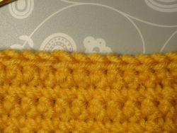 Completed row of slip stitch