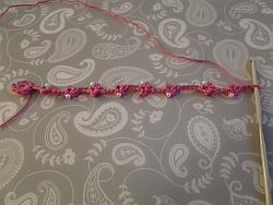 bracelet laid out flat