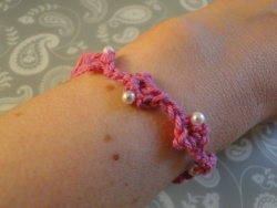 Pink Empress Matilda Bracelet with beads