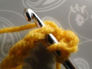 hook through 2nd stitch