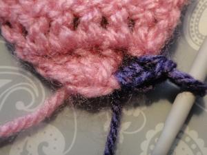 Beginning crochet shell edging