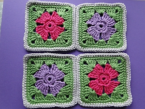 Two sets of squares joined
