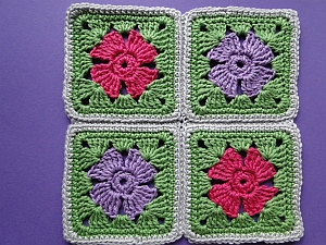 4 flower squares joined together