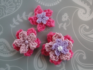 Layered flowers with beads