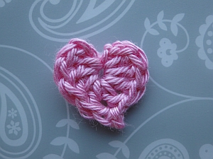 A tiny pink heart.