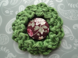 Super bulky flower and a fabric button