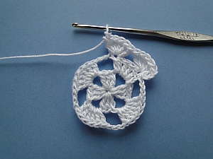 Two groups of stitches