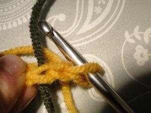 Marked stitch where we will work into