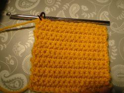 A square made of single crochet