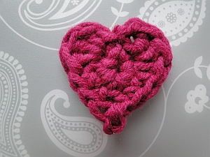 2 round heart in dark pink