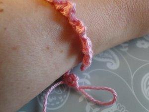 Fitting the bracelet around my wrist