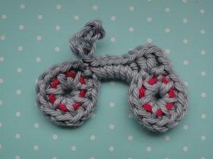 crochet bike applique