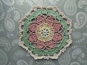Multicolor crochet octagon