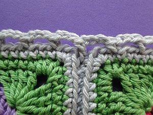 Longer stitch into middle seam