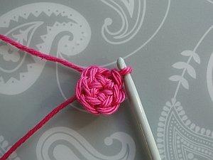 First round crocheted