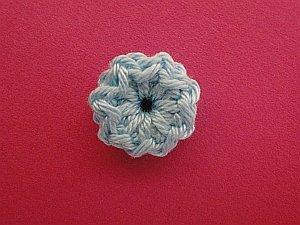 Light blue circular flower