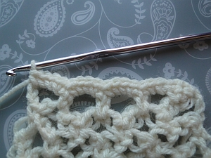 Small stitches worked along edge