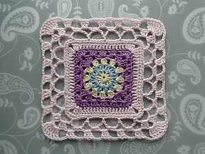 Thread Cosmic Square with lacy edging